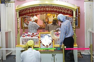 Sikh temple ritual, Dubai, United Arab Emirates, Middle East