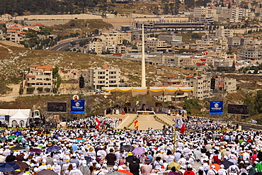 Pontifical Mass celebrated by His Holiness Pope Benedict XVI on the Mount of the Precipice in Nazareth, Galilee, Israel, Middle East