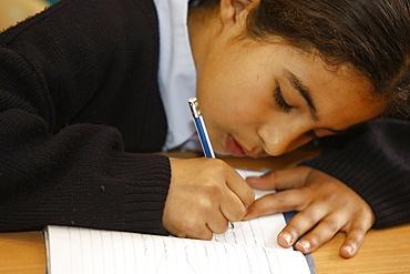 Schoolgirl in Don Bosco school, Nazareth, Galilee, Israel, Middle East