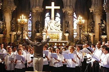 Notre Dame de Paris Cathedral choir, Paris, France, Europe