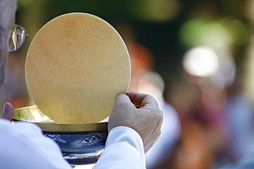 Eucharist celebration, La Roche-sur-Foron, Haute Savoie, France, Europe