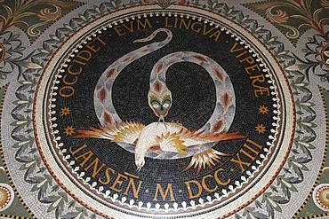 Mosaic in Fourviere Basilica, Lyon, Rhone, France, Europe