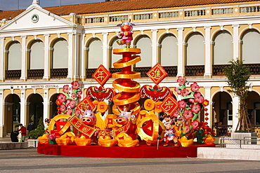 Chinese New Year float on Leal Senado Square, Macao, China, Asia