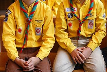 Boy scouts, Paris, France, Europe