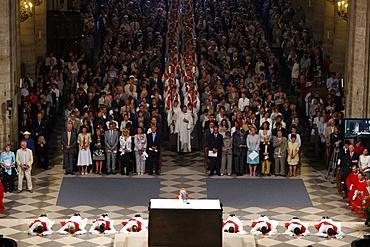 Priest ordinations at Notre Dame de Paris cathedral, Paris, France, Europe