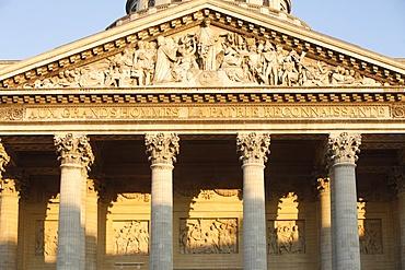 Pediment and columns of the Pantheon, Paris, France, Europe