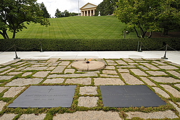 Kennedy graves in Arlington cemetery, Virginia, United States of America, North America