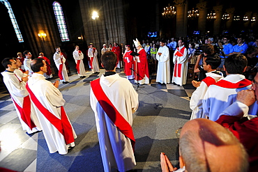 Priest Ordinations in Notre-Dame de Paris cathedral, Paris, France, Europe