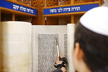 Bar Mitzvah in a synagogue, Paris, France, Europe