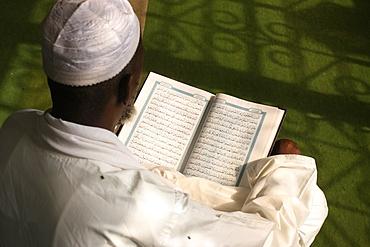 Imam reading the Koran, Brazzaville, Congo, Africa