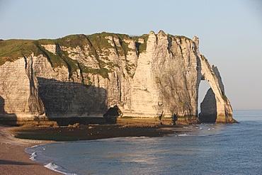 Cliffs at Etretat, Cote d'Albatre, Seine-Maritime, Normandy, France, Europe