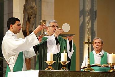Catholic Eucharist celebration, Paris, France, Europe
