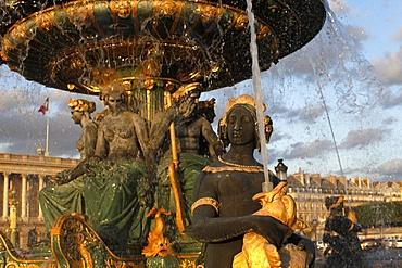 Place de la Concorde fountain, Paris, France, Europe