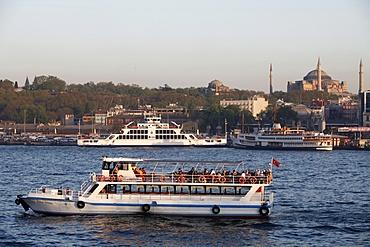 Boat on the Bosphorus, Istanbul, Turkey, Europe
