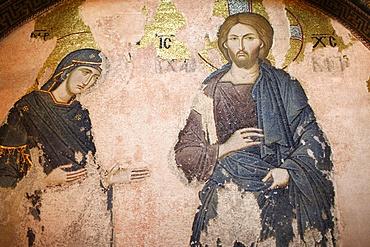 The Khalke Jesus mosaic, Chora Church Museum, Istanbul, Turkey, Europe