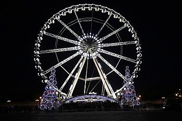 Ferris wheel at Place de la Concorde, Paris, France, Europe