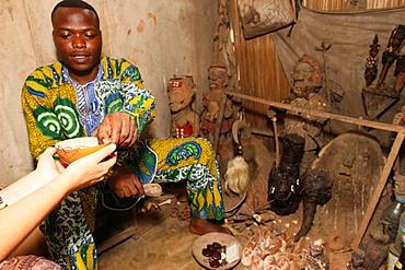 Voodoo ceremony at Akodessewa fetish market, Lome, Togo, West Africa, Africa