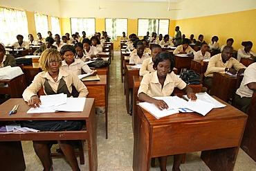 Catholic high school, Lome, Togo, West Africa, Africa