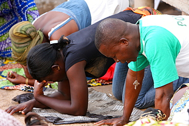 Charismatic prayer group, Lome, Togo, West Africa, Africa