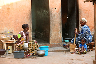 African kitchen, Lome, Togo, West Africa, Africa