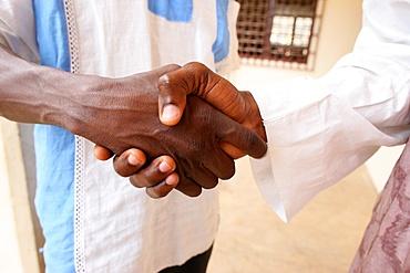 Handshake, Lome, Togo, West Africa, Africa