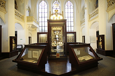 The Maisel Synagogue is currently used by the Jewish Museum as an exhibition venue and depository, Prague, Czech Republic, Europe