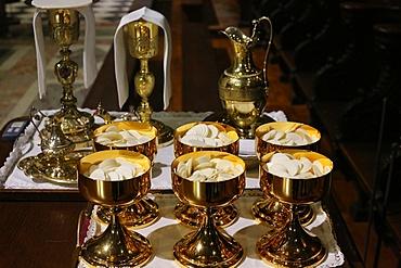 Eucharistic celebration, Notre Dame Cathedral, Paris, France, Europe