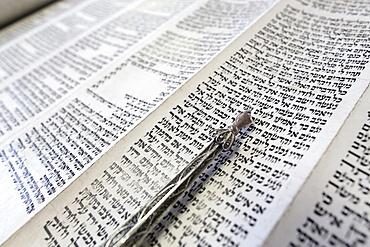 Jewish Torah scroll with pointer, Paris, France, Europe