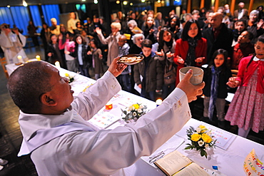 Maundy Thursday, Easter week celebration, Paris, France, Europe
