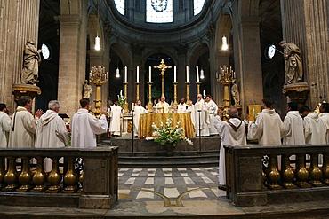 Eucharist at Saint Sulpice church, Paris, France, Europe