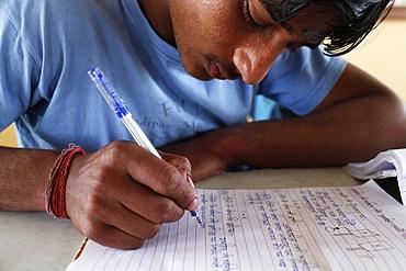 Sandipani Muni high school student, Vrindavan, Uttar Pradesh, India, Asia