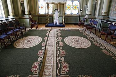 Jewish wedding chuppah, Grand Choral Synagogue, St. Petersburg, Russia, Europe
