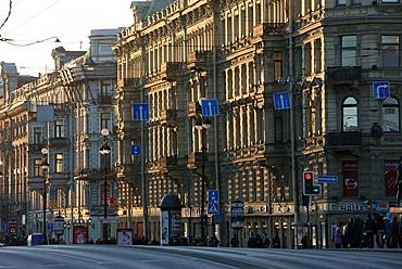Nevsky Prospekt, the main avenue of St. Petersburg, Russia, Europe