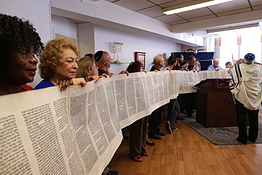 Launch of a new Torah in a synagogue, Paris, France, Europe