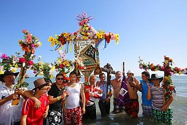 Gypsy pilgrimage at Les Saintes-Maries-de-la-Mer, Bouches-du-Rhone, France, Europe