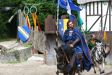 The legend of the knights, the medieval festival of Provins, UNESCO World Heritage Site, Seine-et-Marne, Ile-de-France, France, Europe