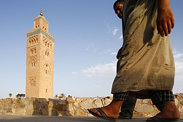 Koutoubia mosque and minaret, UNESCO World Heritage Site, Marrakech, Morocco, North Africa, Africa