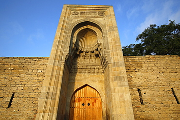 Eastern portal (Murad Gate) of Shirvanshah's palace complex dating from 1585 in Baku Old City, Azerbaijan, Central Asia, Asia