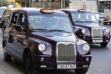 Baku taxis, Azerbaijan, Central Asia, Asia
