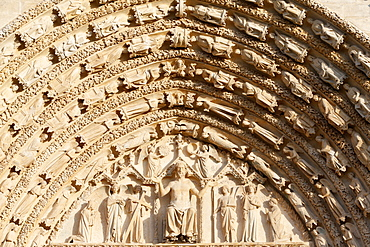 The Last Judgement, Western portal, Bourges Cathedral, UNESCO World Heritage Site, Cher, Centre, France, Europe
