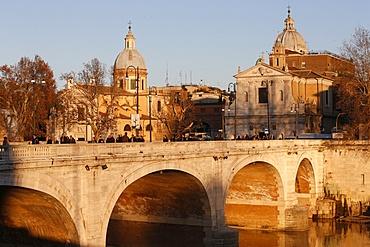 Cavour Bridge over the Tiber River by Angelo Vescovali, Rome, Lazio, Italy, Europe