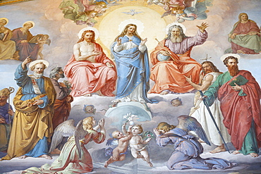 God, Jesus and Mary, Vatican Museum, Vatican, Rome, Lazio, Italy, Europe