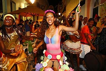 Salvador street carnival in Pelourinho, Bahia, Brazil, South America