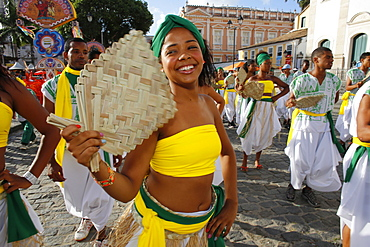 Salvador carnival in Pelourinho, Bahia, Brazil, South America
