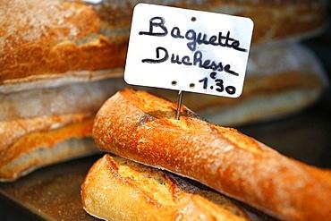 French baguette, Saint-Gervais-les-Bains, Rhone-Alpes, France, Europe