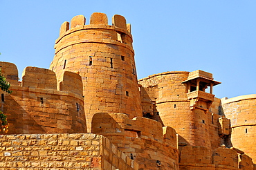 Remparts, towers and fortifications of Jaisalmer, Rajasthan, India, Asia