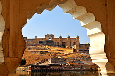 Amber Fort dating from the 16th century, near Jaipur, Rajasthan, India, Asia