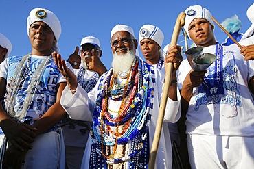 Gandhi's Sons at Lemanja's festival, Salvador, Bahia, Brazil, South America