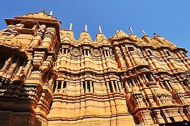 Jain temple of Adinath (Rishabha), dating from the 12th century, Jaisalmer, Rajasthan, India, Asia
