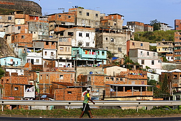 Favelas in Salvador da Bahia, Bahia, Brazil, South America